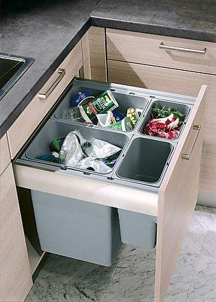 Photo of Unterschrank in Eiche grau mit Mülltrennsystem