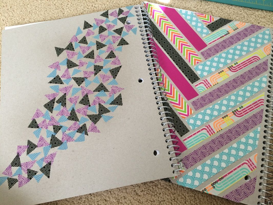Diy washi tape notebooks back to school ellie taylor for How do you use washi tape