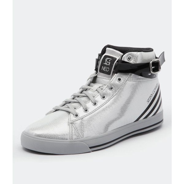 buy online b0026 1dc8d Adidas Neo Neo Daily Wrap Selena Gomez Silver Black ( 46) ❤ liked on  Polyvore featuring shoes, adidas neo, adidas neo shoes, silver hi tops, silver  high ...