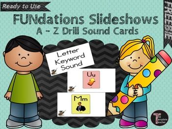 Fundations A Z Letter Keyword Sound Drill Slideshow