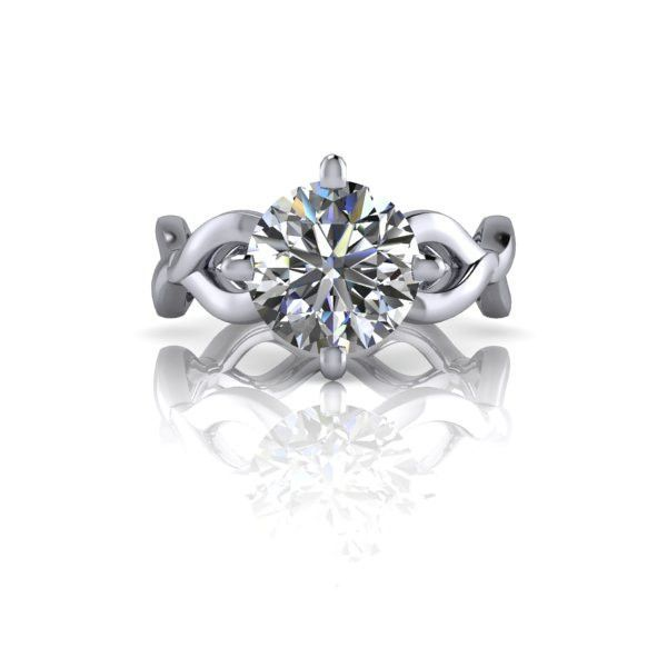Radiant Fire Created Moissanite™ Modern Engagement Ring 1.50 CTW