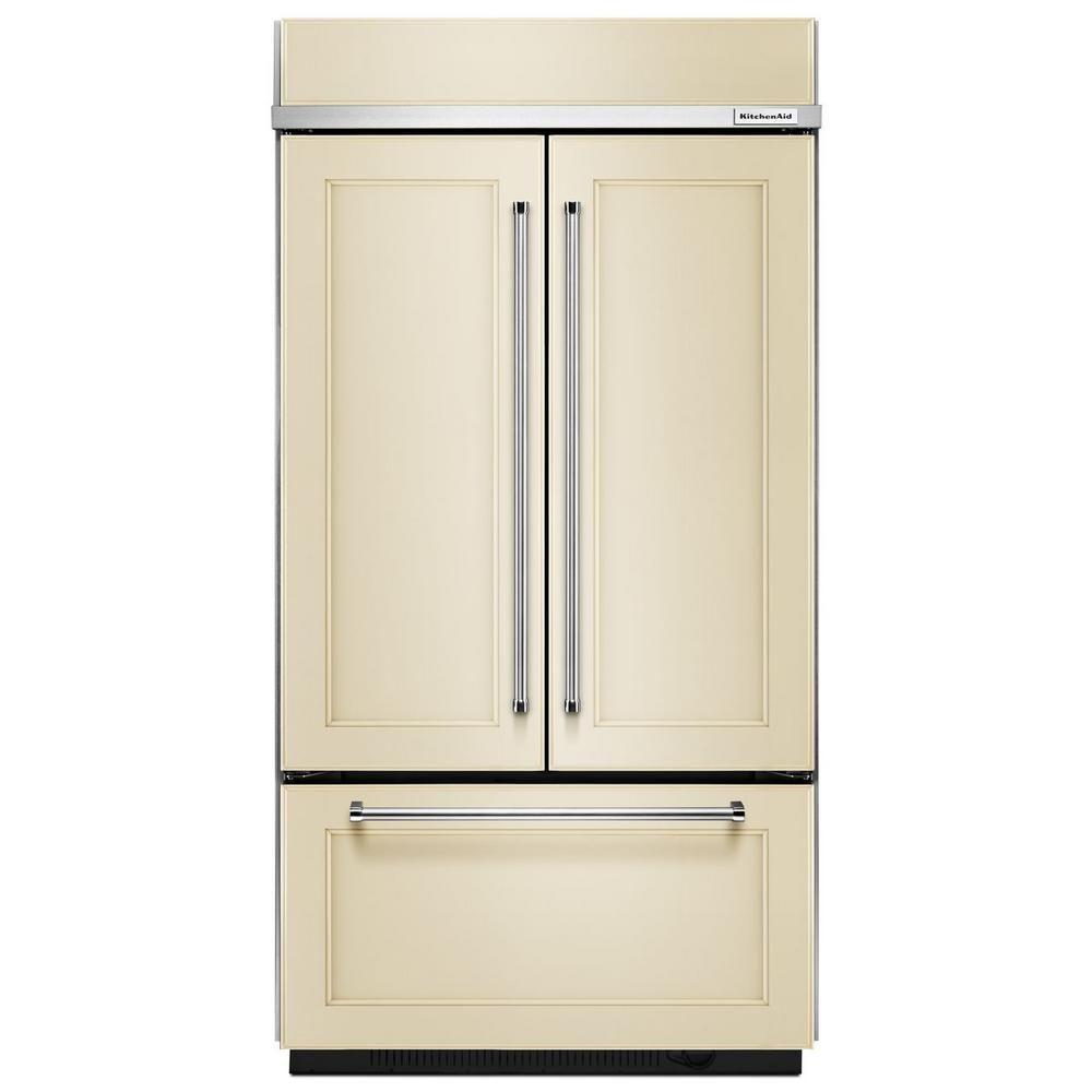 Kitchenaid 242 cu ft builtin french door refrigerator