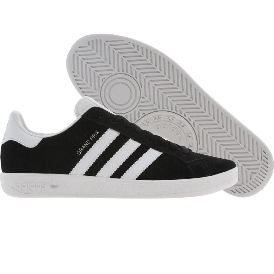 pretty nice 919d6 6327b Adidas Grand Prix shoes in white, black, and college grey