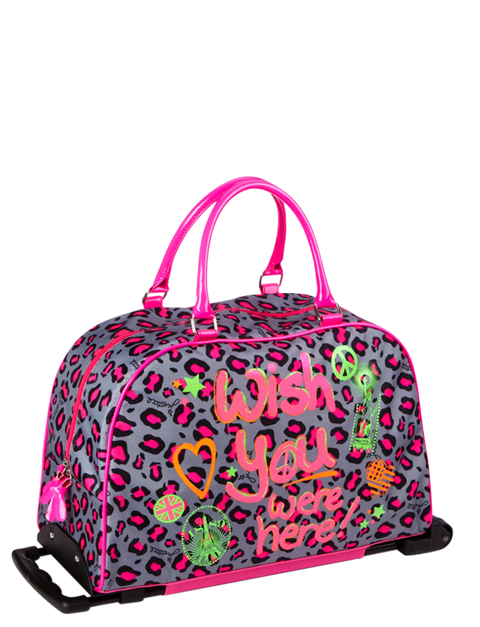 Neon Leopard Roller Duffle Travel Luggage Bags Amp Totes