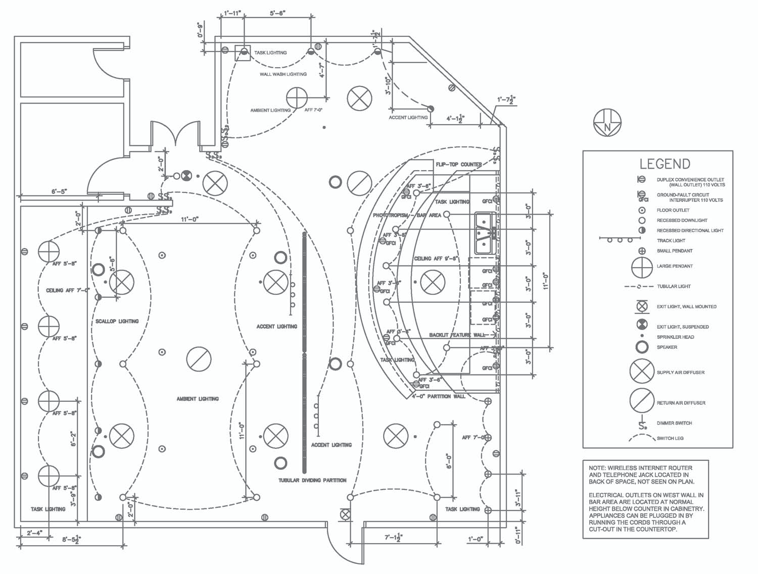electrical layout cad drawings