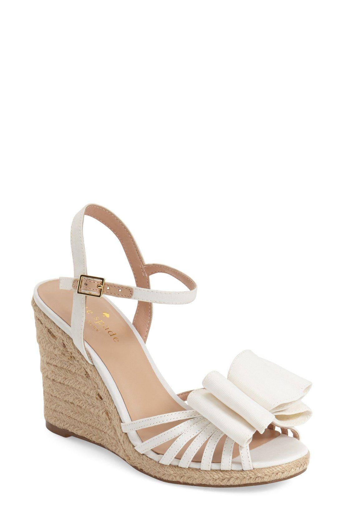 d42753dd4b0b kate spade new york  biana  grosgrain bow wedge sandal (Women ...