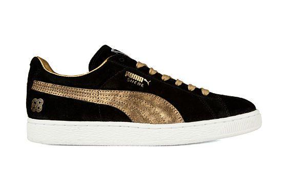 Puma Suede 68 Modell Schwarz Gold   Wildleder, Sneaker, Leder