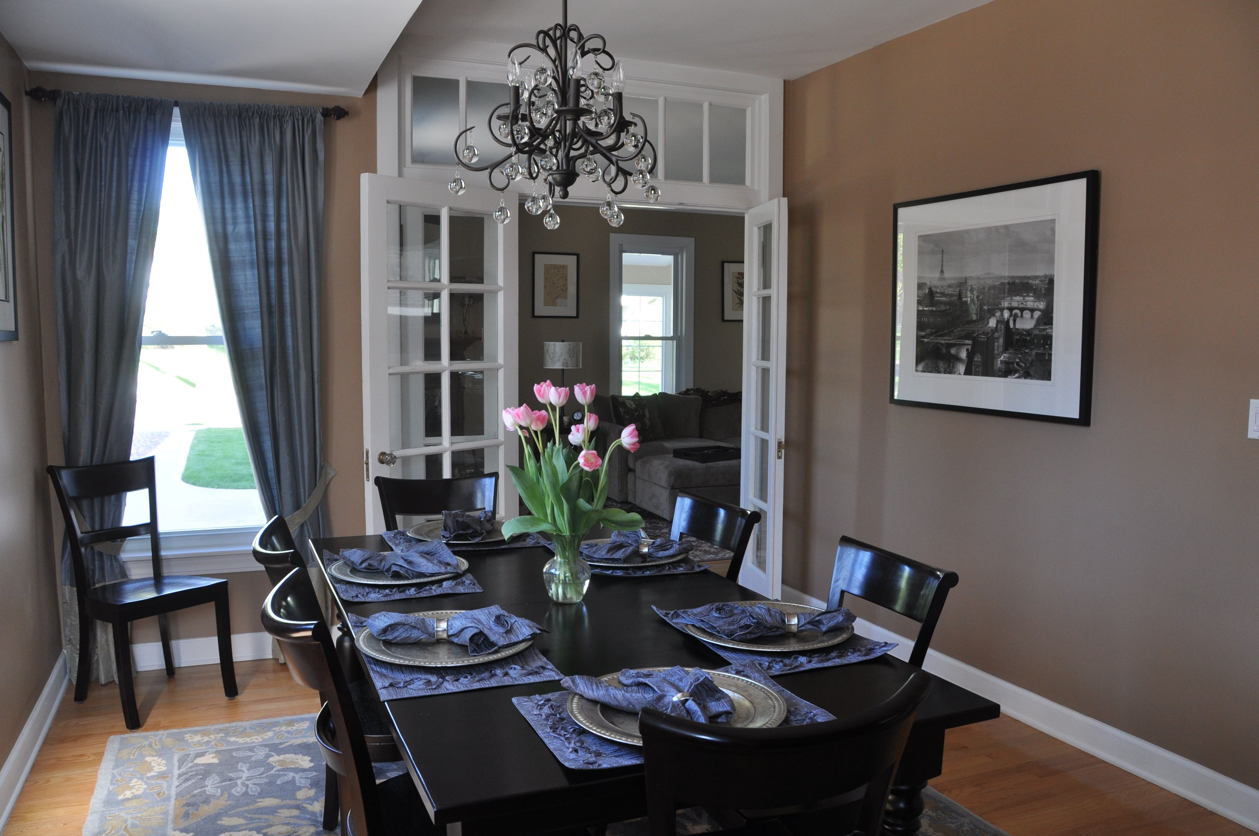 How the Bellora Chandelier looks in the dining room