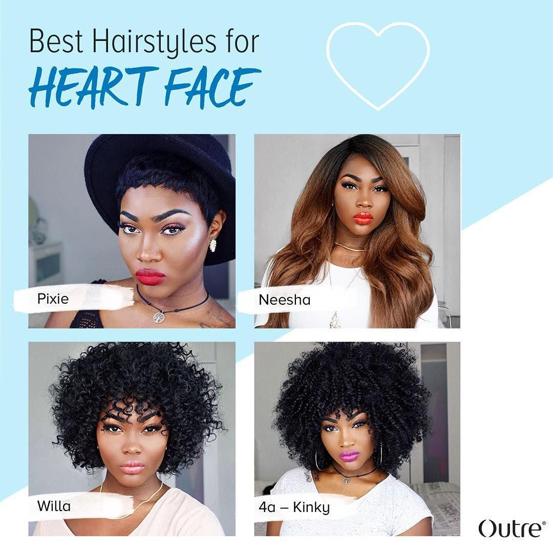 best hairstyles for a heart-shaped face || ig