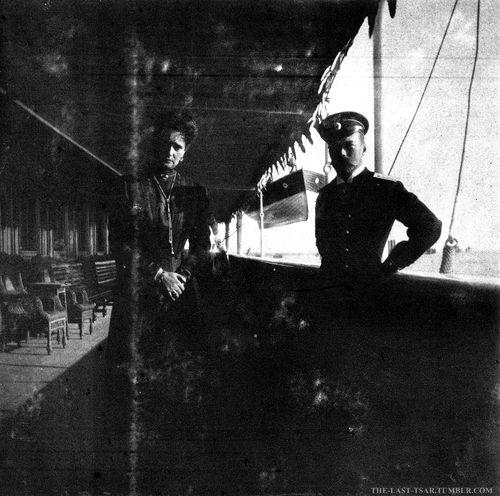 Nicholas and Alexandra at the Standart.