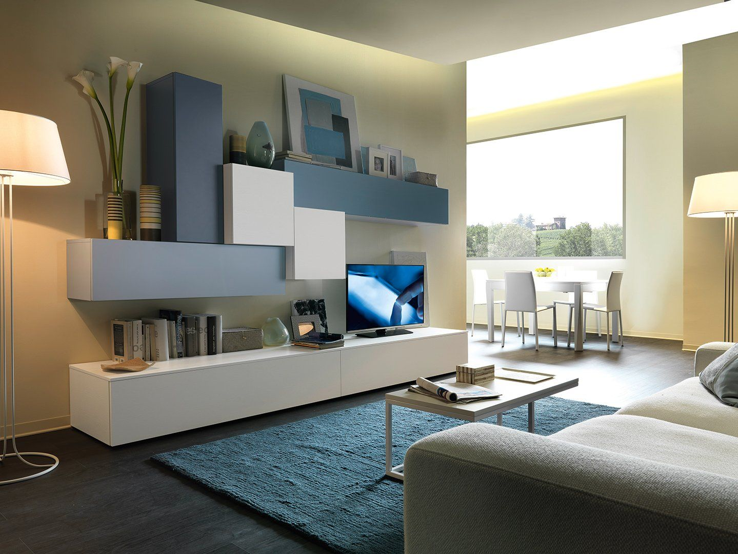 Mobili soggiorno modello shavit chateau d 39 ax sala nel for Mobili sala da pranzo moderni