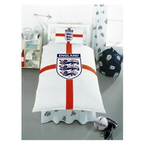 Clearance England St George Design Quilt Duvet Cover Bedding Set Single Bed