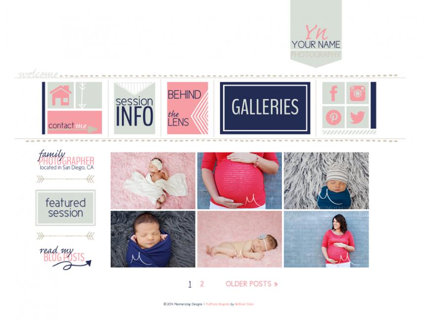 ProPhoto4 Blog Template, blog design, web design, photography site ...