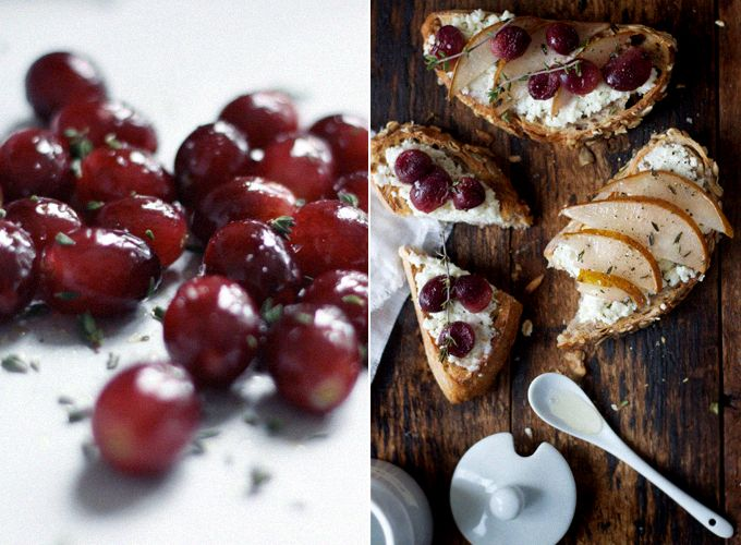 Homemade Goat's Milk Ricotta on Toast with Roasted Fruits by Sarah Britton.