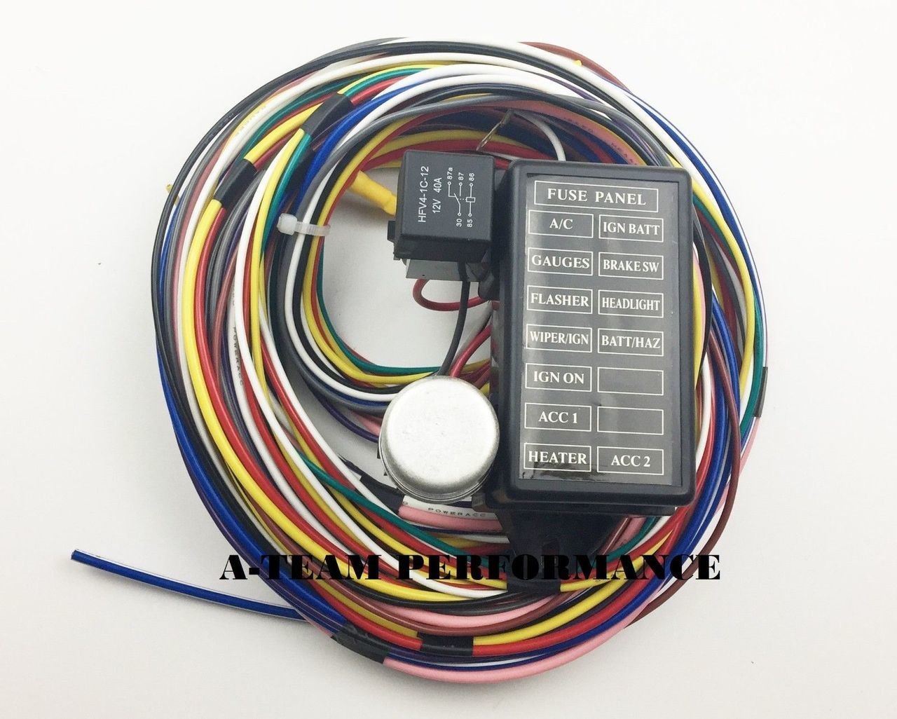 12 circuit universal wire harness muscle car hot rod street rod new xl wires swpp swperformanceparts [ 1280 x 1026 Pixel ]