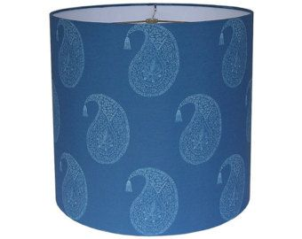 Drum lamp shade lampshade bangalore in midnight blue made to order drum lamp shade lampshade bangalore in midnight blue made to order aloadofball Image collections