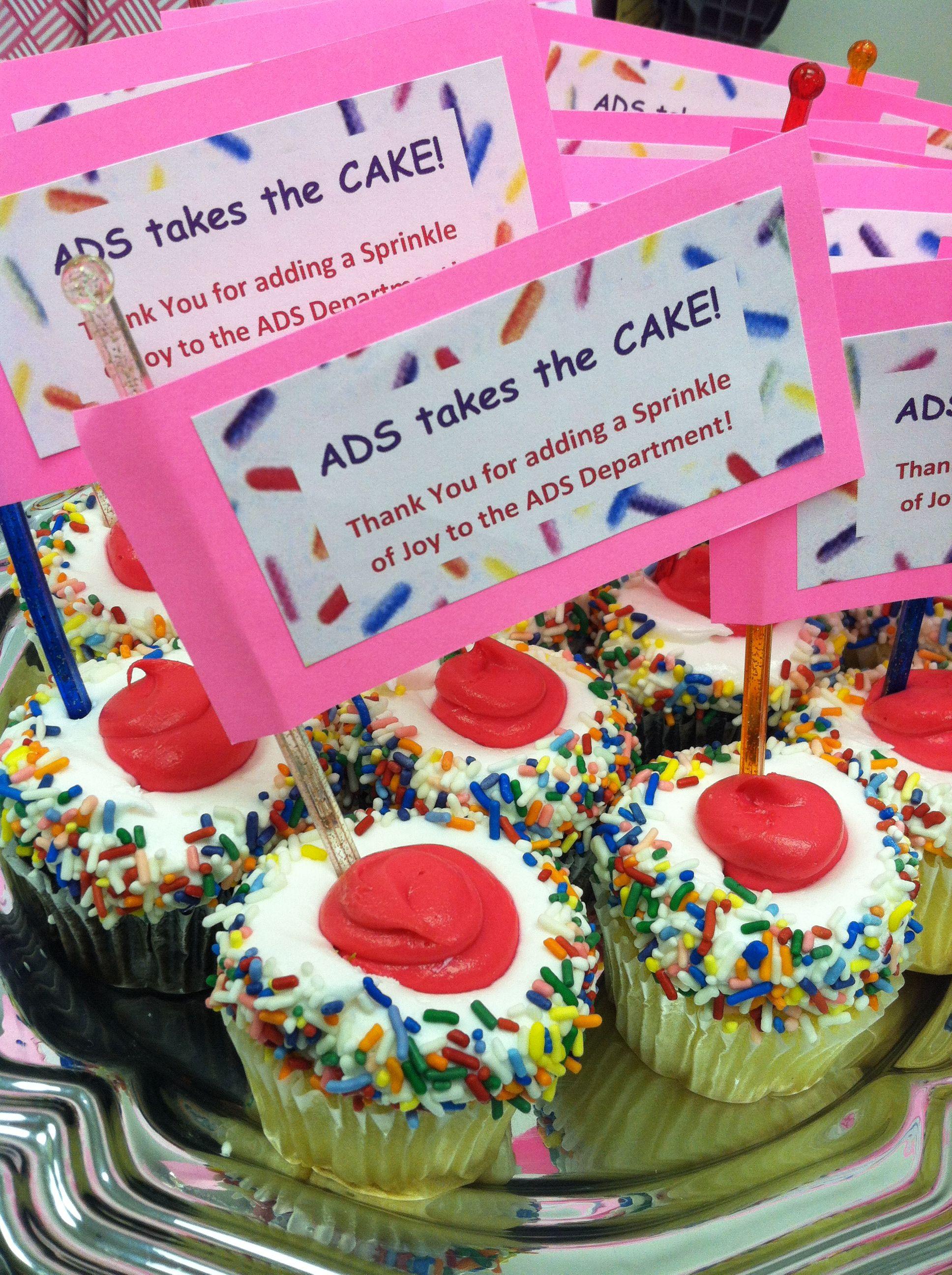 Employee Appreciation Cupcakes