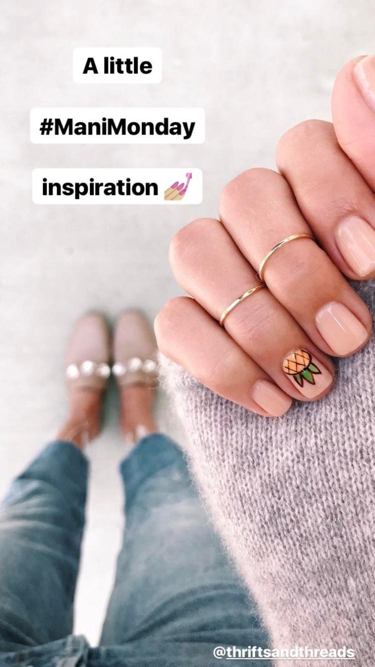 маникюр #ананас#маникюр | Красивые дизайны для ногтей ...