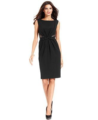 Marina Dress Lace Inset Sheath Womens Dresses Macy S Perfect