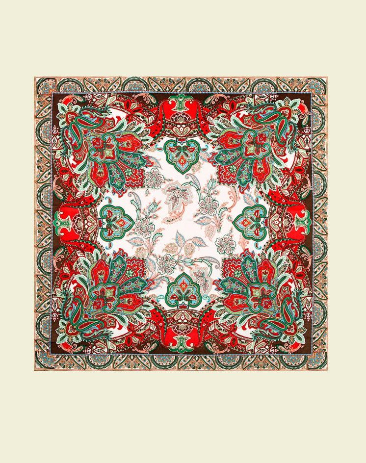 схема павлопосадского платка рисунок