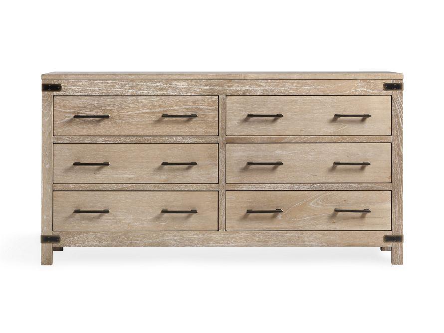 Tremont Six Drawer Dresser With Br Handles Arhaus Furniture Dressers