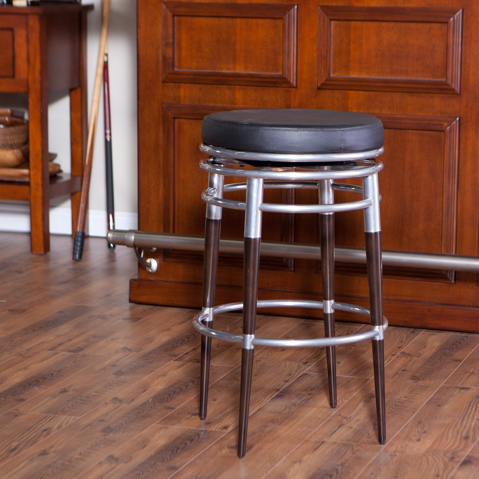 Have to have it. Newark 30 in. Backless Bar Stool - Silver - $129.98 @hayneedle