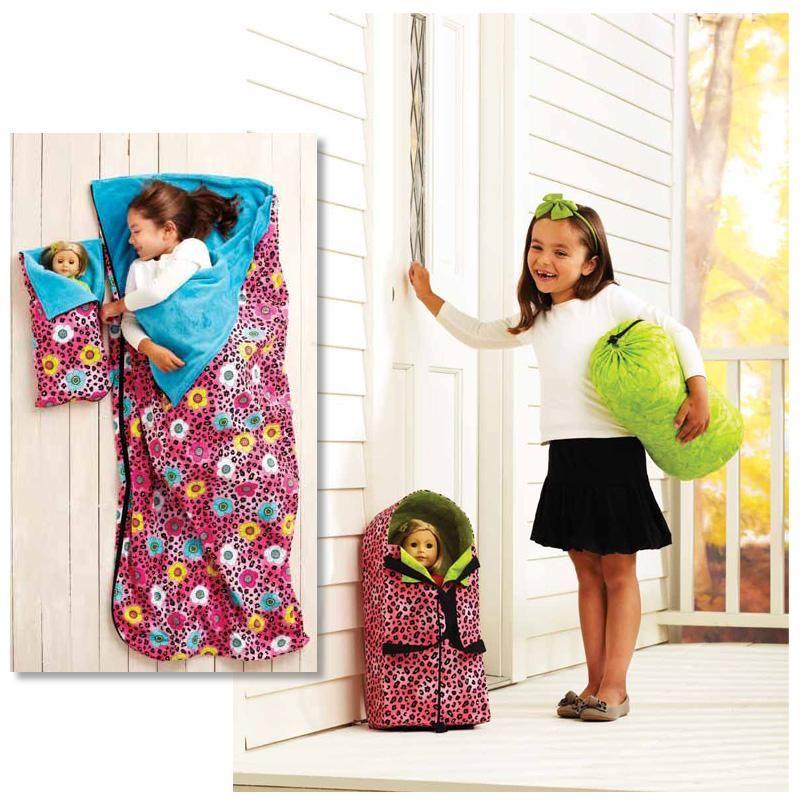 Kwik Sew Doll Carrier, Sleeping Bag, & Stuff Bag (3909) Pattern from ...