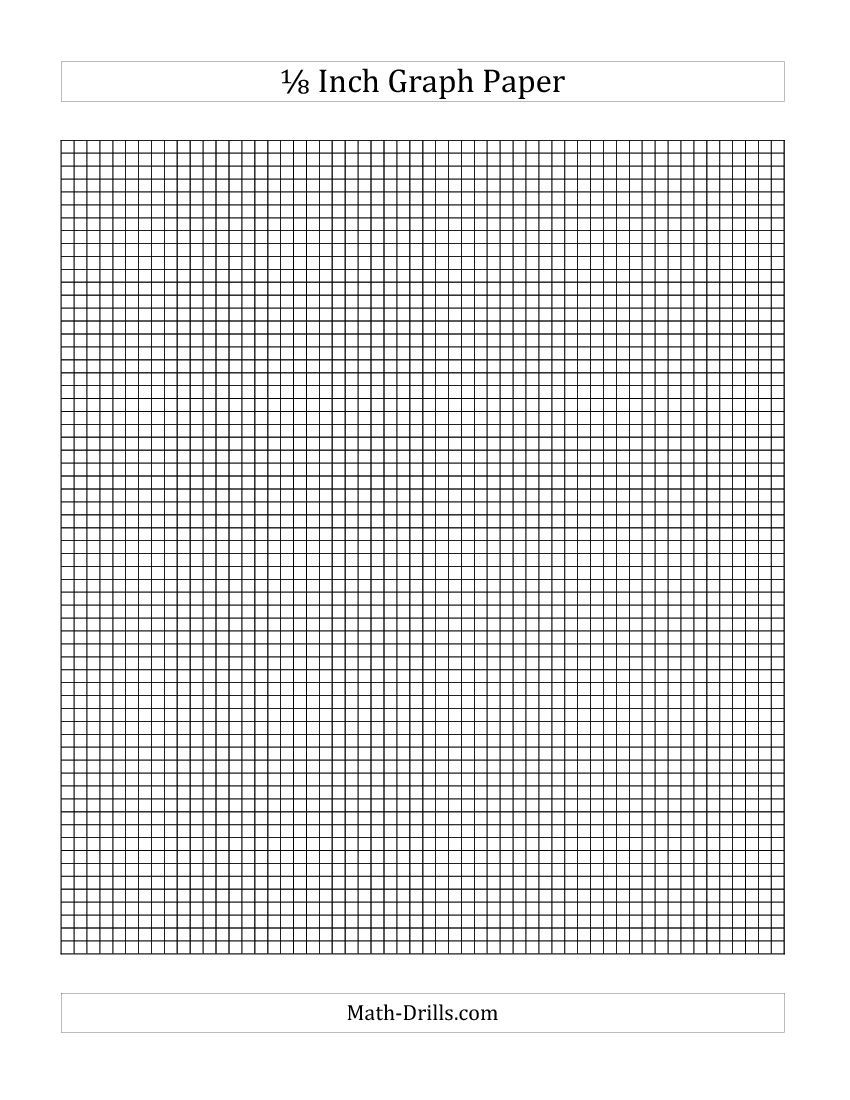 1  8 inch graph paper - free download