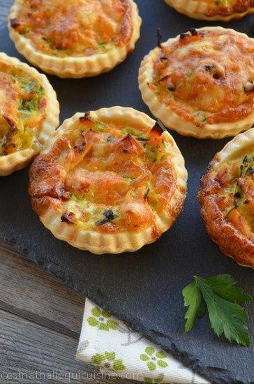 Je vous propose aujourd'hui de réaliser de délicieuses mini-quiches aux légumes et au poulet. J'avais repéré cette recette chez Asmaa sur son blog Asmaa Cuisine. Les photos d'Asmaa son tellement appétissantes! Et je vous assure qu'elles sont aussi bonnes...