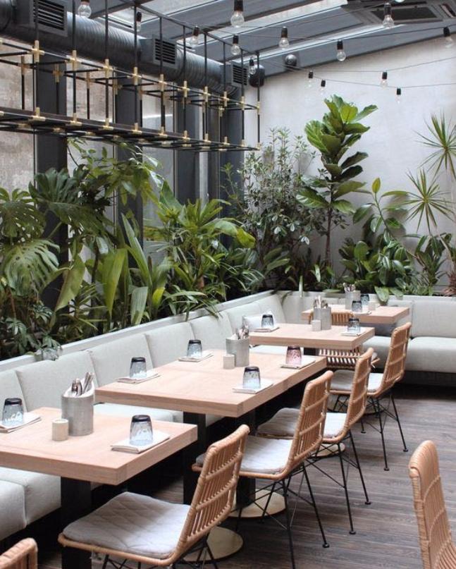 Pin By Tianna Barnett On Exhibition Restaurant Seating Design Modern Coffee Shop Restaurant Seating
