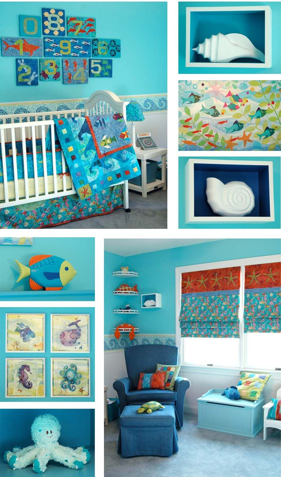 138: Under The Sea Nursery | Ocean Baby Rooms, Baby Room Themes, Baby Nursery Themes