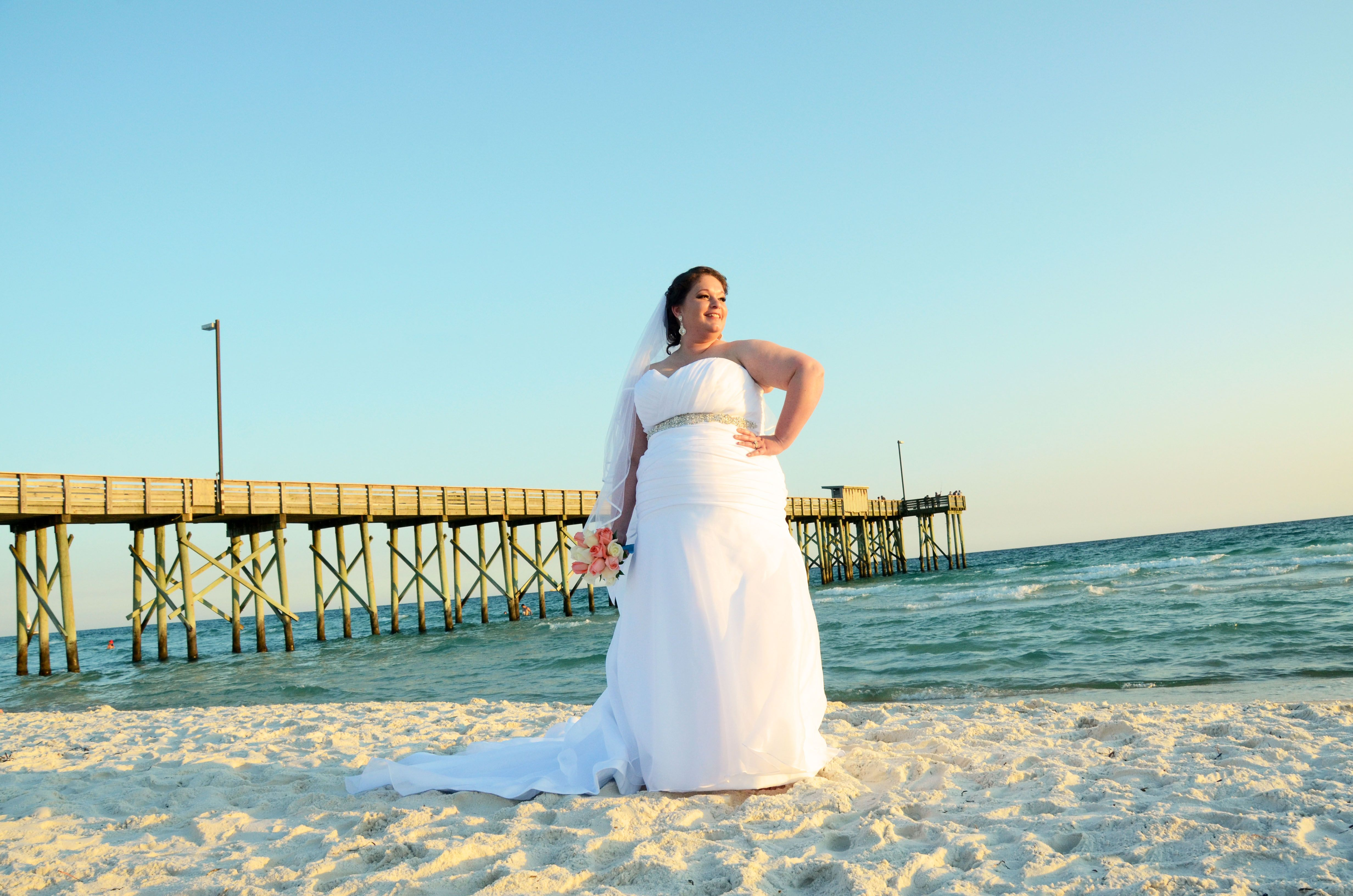 Panama City Beach Florida Destination Wedding Bride
