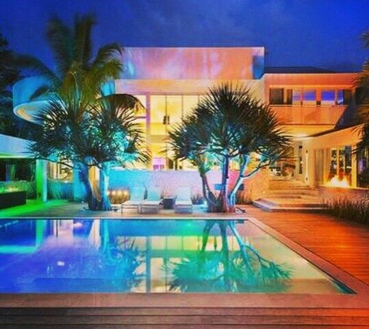 Colorful Outdoor Pool Lights