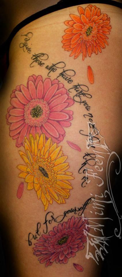 gerber daisy tattoo google search body decor pinterest tattoo piercings and tatting. Black Bedroom Furniture Sets. Home Design Ideas