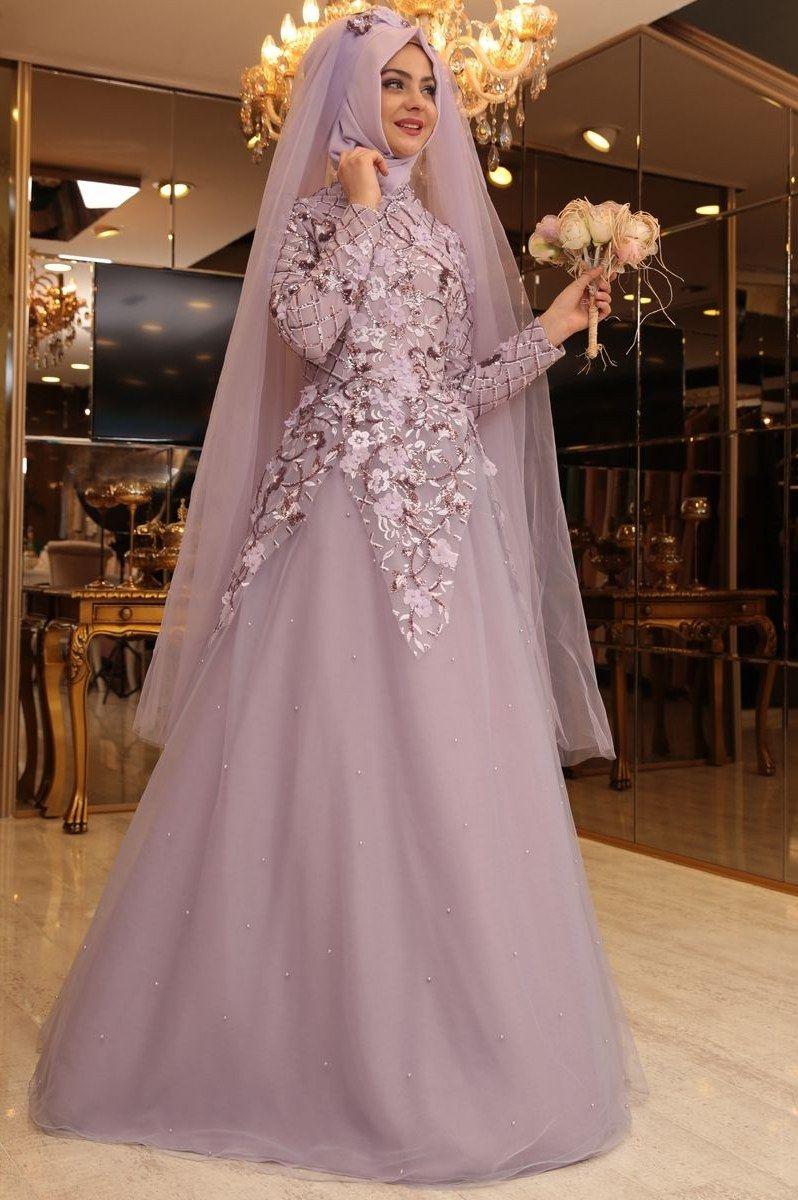 12 Model Gaun Pengantin Muslimah Brokat  Baju pengantin, Gaun