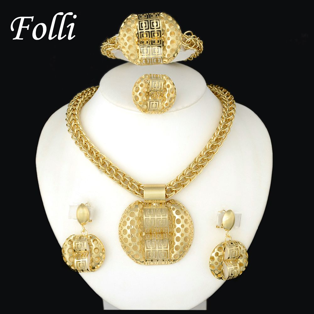 Click image to buy latest fashion african jewelry set sparkling
