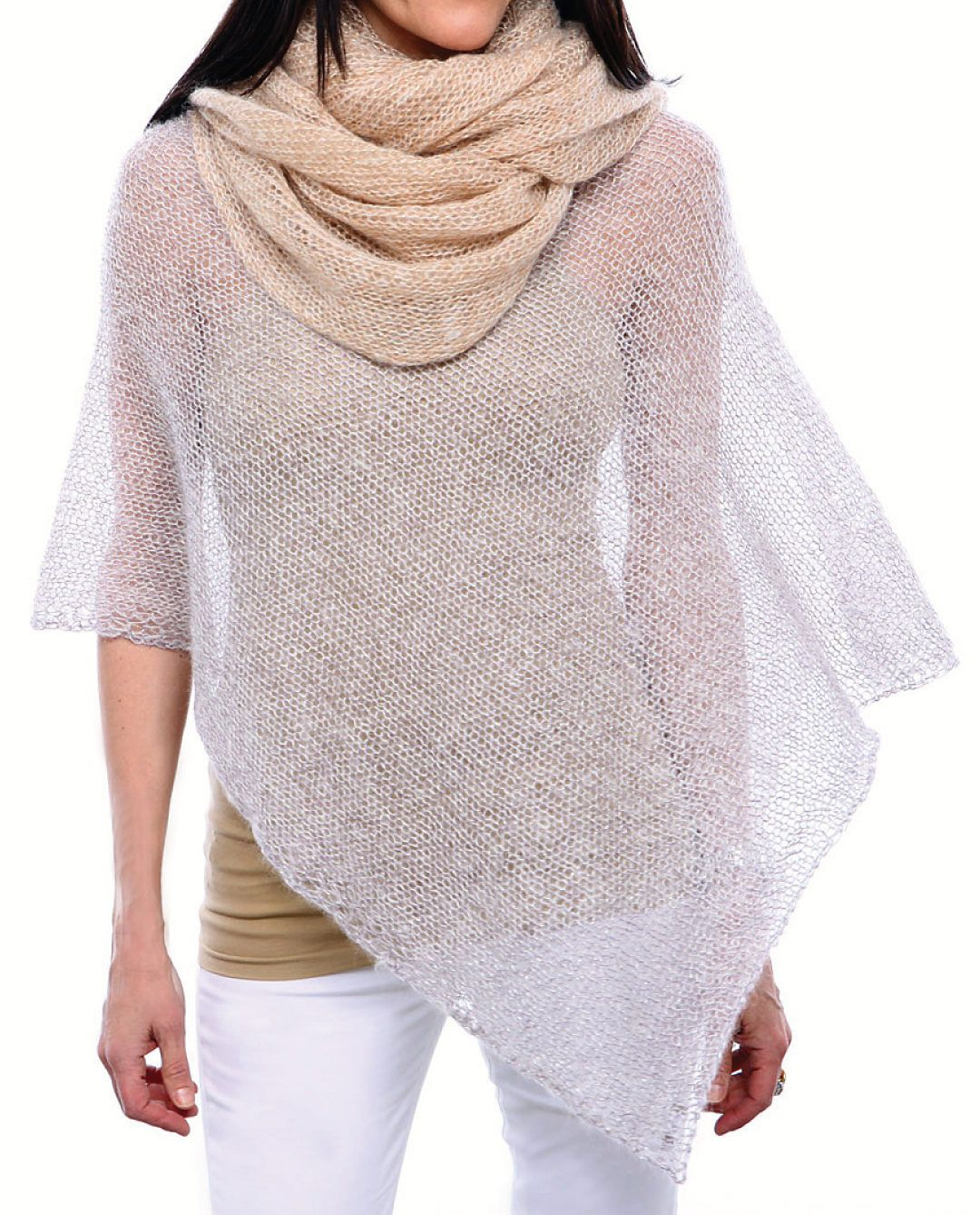 Free Knitting Pattern for Grace and Style Poncho - This very easy ...