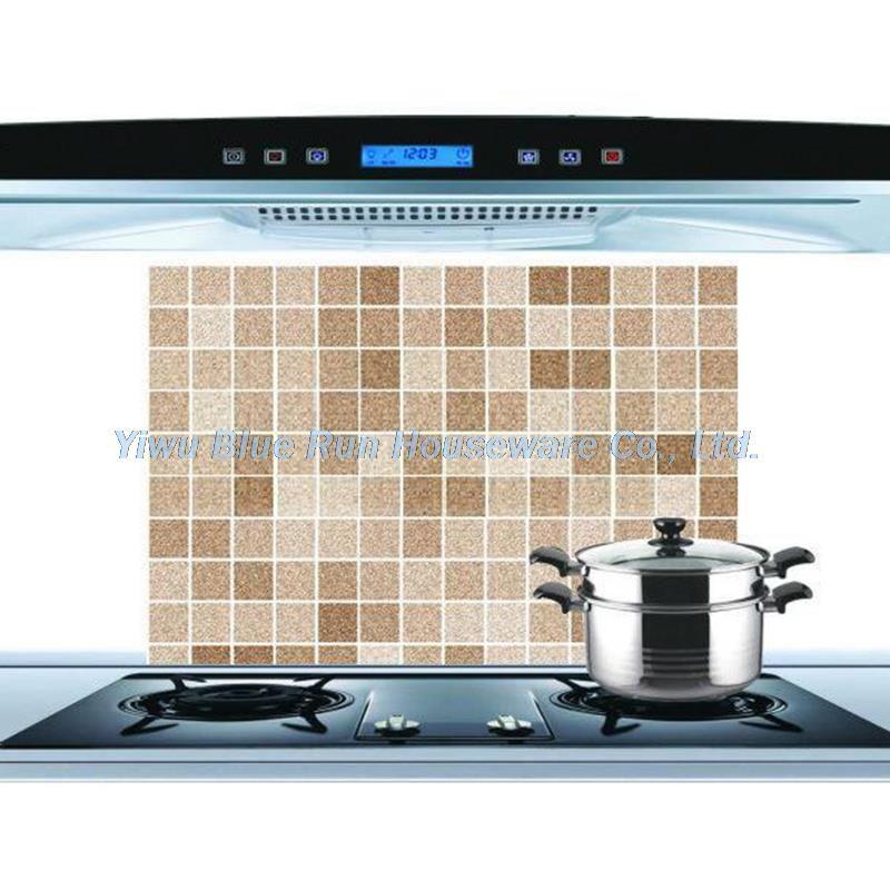 45x70cm Mosaic Aluminum Foil Self Adhensive Anti Oil Wallpaper For Kitchen Wall Sticker Diy Home Decor Ki Kitchen Wall Stickers Kitchen Wallpaper Wall Stickers