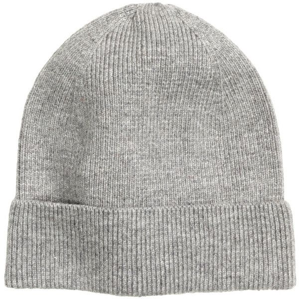 H&M Rib-knit hat (13 CAD) ❤ liked on Polyvore featuring accessories, hats, beanies, grey marl, beanie cap hat, beanie cap, rib knit beanie, grey beanie and gray hat