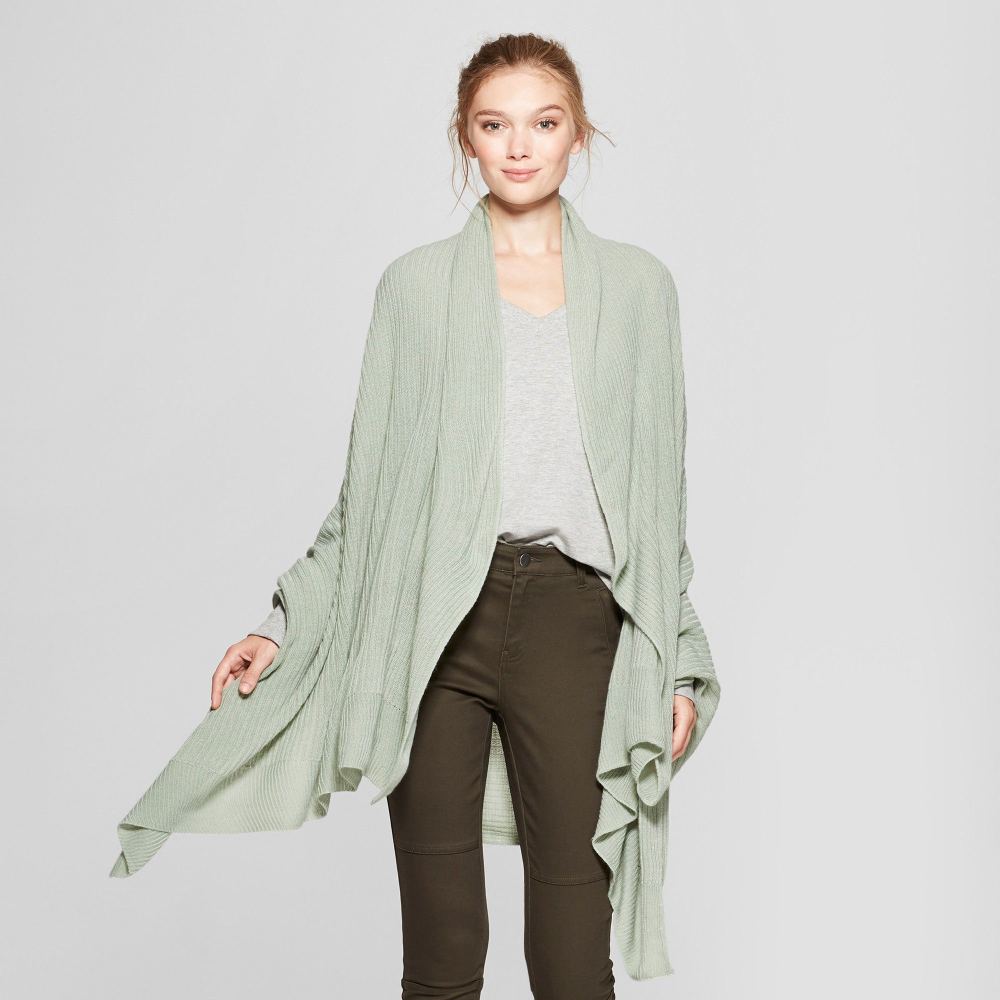 A New Day Women/'s Travel Wrap Green-NWT