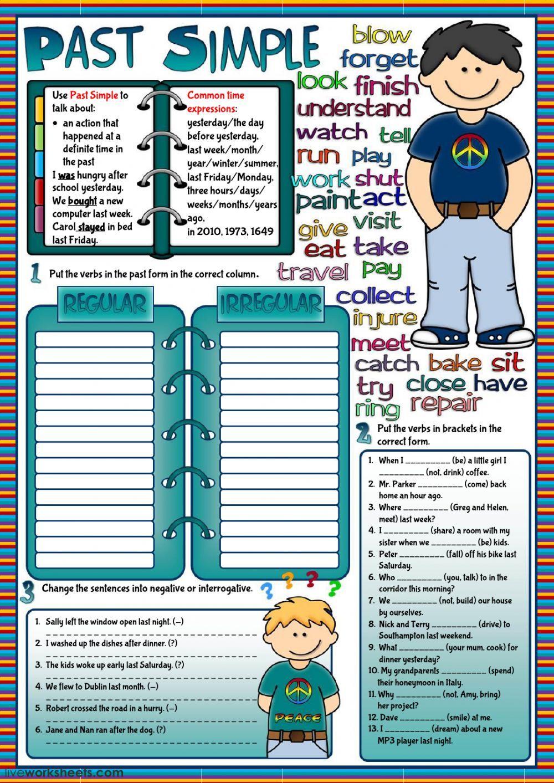 Past Simple practice Interactive worksheet school