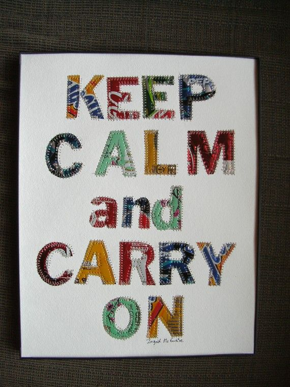 LOVE this.  made from soda pop cans, sewn on to a white acid free paperboard ($49 on etsy)