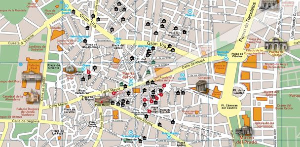 Madrid Attractions Map