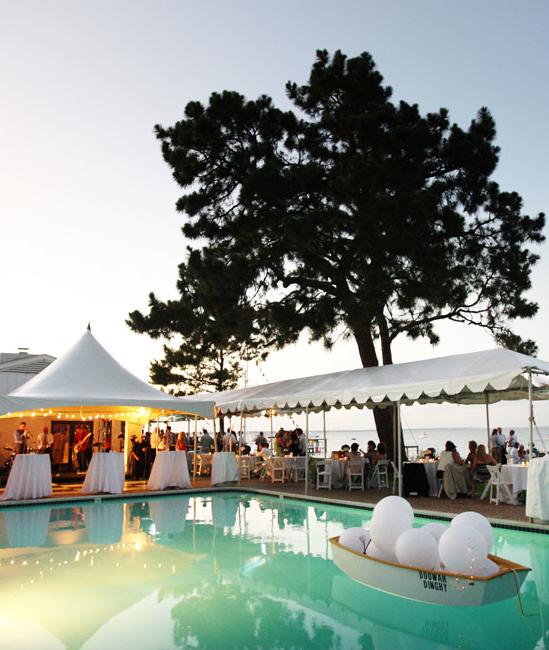 A Stunning Poolside Wedding Reception Poolside Wedding Reception