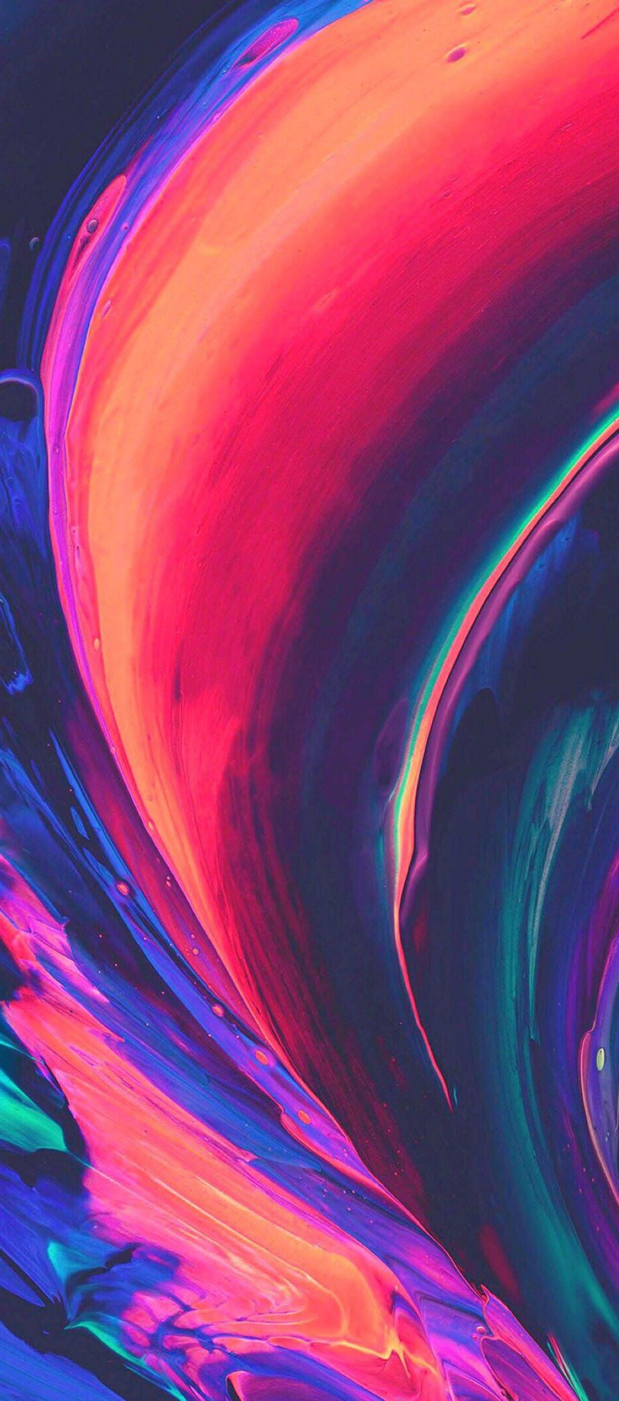 iOS 11, iPhone X, purple, blue, clean, simple, abstract ...