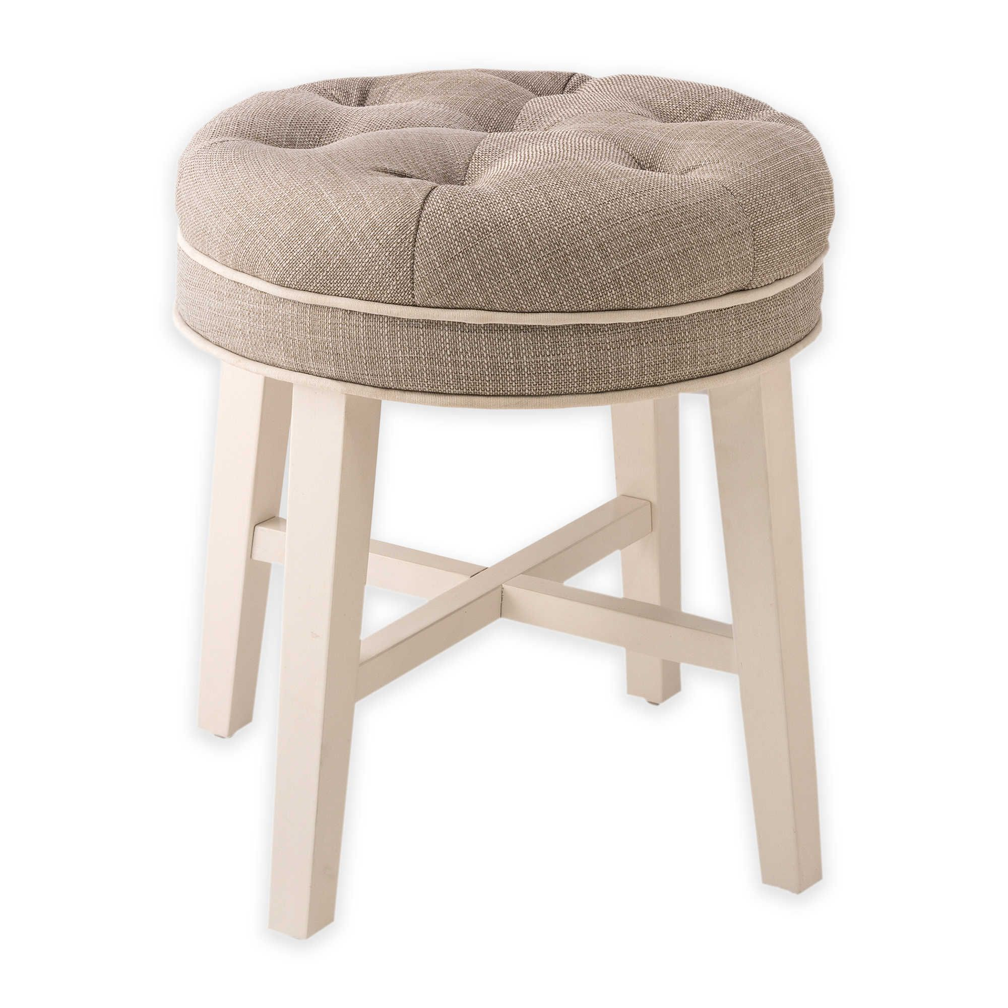 Hillsdale Krauss Wood Vanity Stool In Grey Vanity Stool