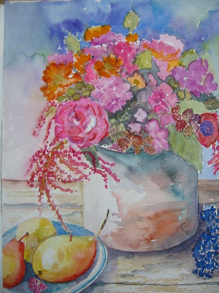 Flowers Flower Painting Pinterest Flowers Watercolor And Artwork