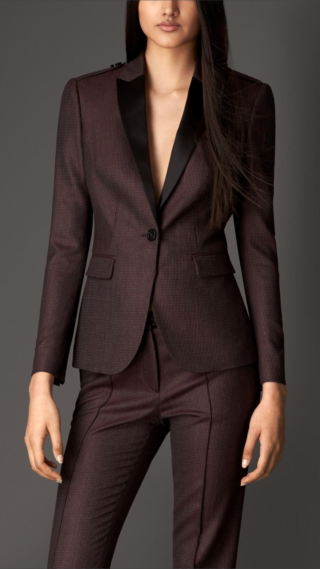 083139decbf23 Virgin Wool Tailored Jacket   Burberry   À LA MODE   Pinterest ...