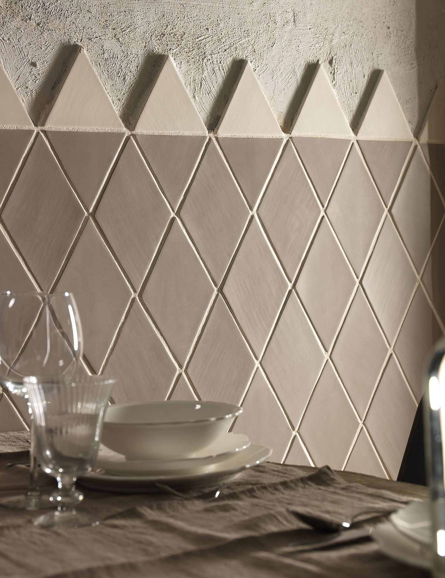 Diamond And Triangle Shaped Wall Tiles From Solus Ceramics Global