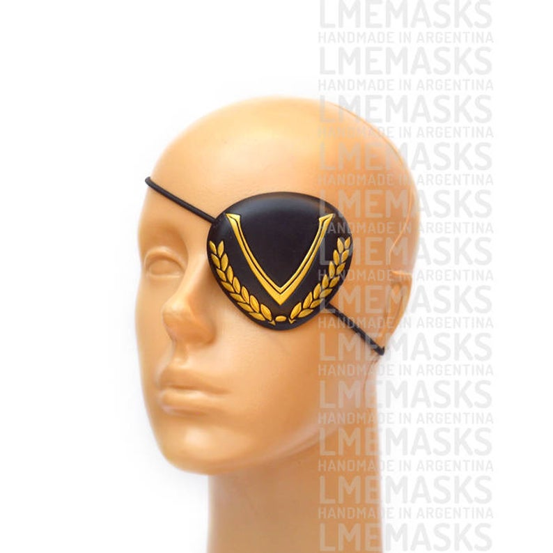 Twin Wardens Eye Patch Persona 5 Leather Eyepatch Black Gold Etsy Eyepatch Persona 5 Black Gold